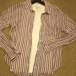 Maurices Striped Button Down Top